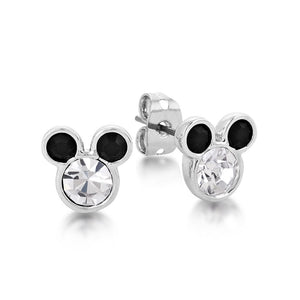 Disney Mickey Mouse Crystal Stud Earrings - Couture Kingdom Benelux Bijoux Juwelen Disney Store Charm Bracelet Ketting Collier Oorbellen Boucles d'oreilles Earrings mickey mouse minnie mouse mary poppins dumbo la bella et la bete fée Clochette Alice au pays des merveilles pandora disney swarovski disney bijou cristal