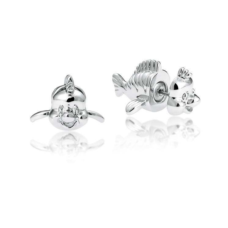 Disney Princess The Little Mermaid Flounder Stud Earrings - Couture Kingdom Benelux Bijoux Juwelen Disney Store Charm Bracelet Ketting Collier Oorbellen Boucles d'oreilles