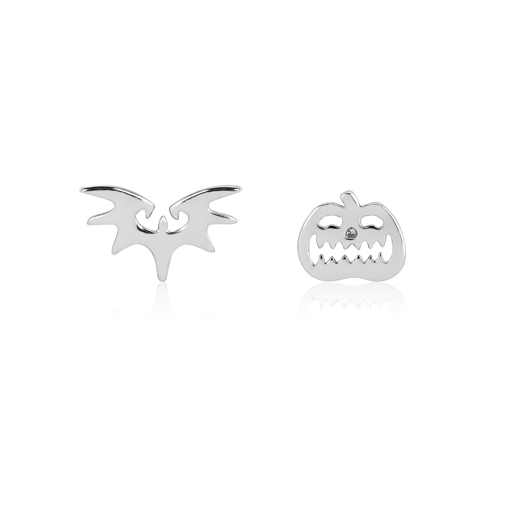 Disney Tim Burton's The Nightmare Before Christmas Bat and Pumpkin Mix-Match Stud Earrings