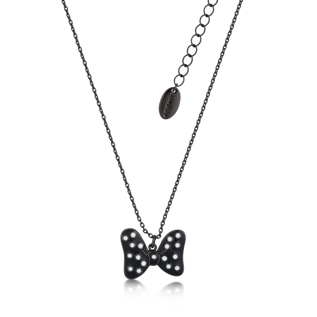 Disney Minnie Mouse Black Bow Necklace - Couture Kingdom Benelux Bijoux Juwelen Disney Store Charm Bracelet Ketting Collier Oorbellen Boucles d'oreilles Necklace mickey mouse minnie mouse mary poppins dumbo la bella et la bete fée Clochette Alice au pays des merveilles pandora disney swarovski disney bijou cristal