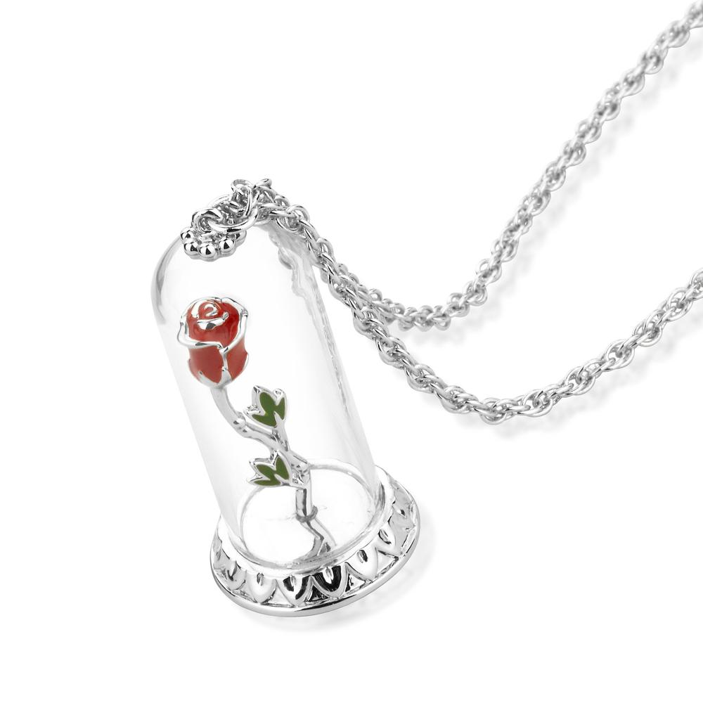 Disney Beauty and the Beast Enchanted Rose Necklace - Couture Kingdom Benelux