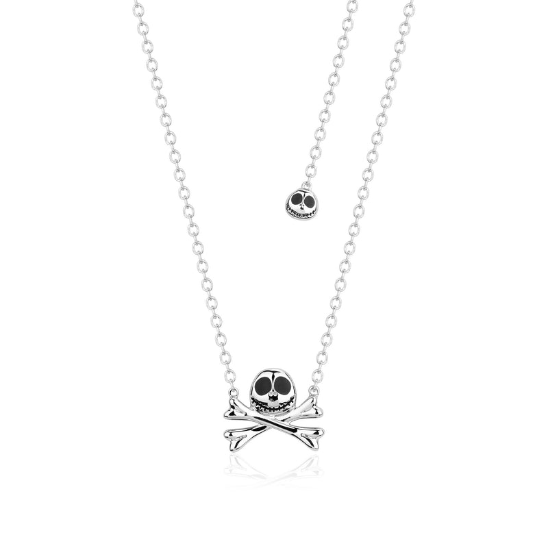 Disney Tim Burton's The Nightmare Before Christmas Jack Skellington Necklace - Couture Kingdom Benelux Bijoux Juwelen Disney Store Charm Bracelet Ketting Collier Oorbellen Boucles d'oreilles Necklace mickey mouse minnie mouse mary poppins dumbo la bella et la bete fée Clochette Alice au pays des merveilles pandora disney swarovski disney bijou cristal