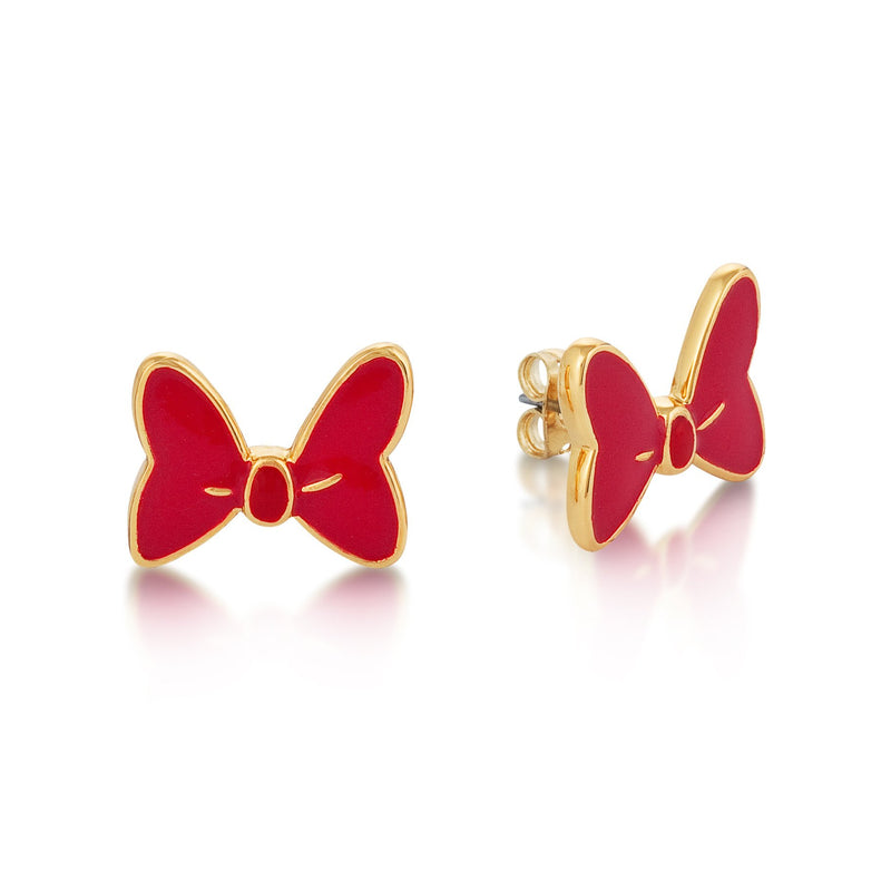 Disney Minnie Mouse Red Bow Studs - Couture Kingdom Benelux Bijoux Juwelen Disney Store Charm Bracelet Ketting Collier Oorbellen Boucles d'oreilles Earrings mickey mouse minnie mouse mary poppins dumbo la bella et la bete fée Clochette Alice au pays des merveilles pandora disney swarovski disney bijou cristal