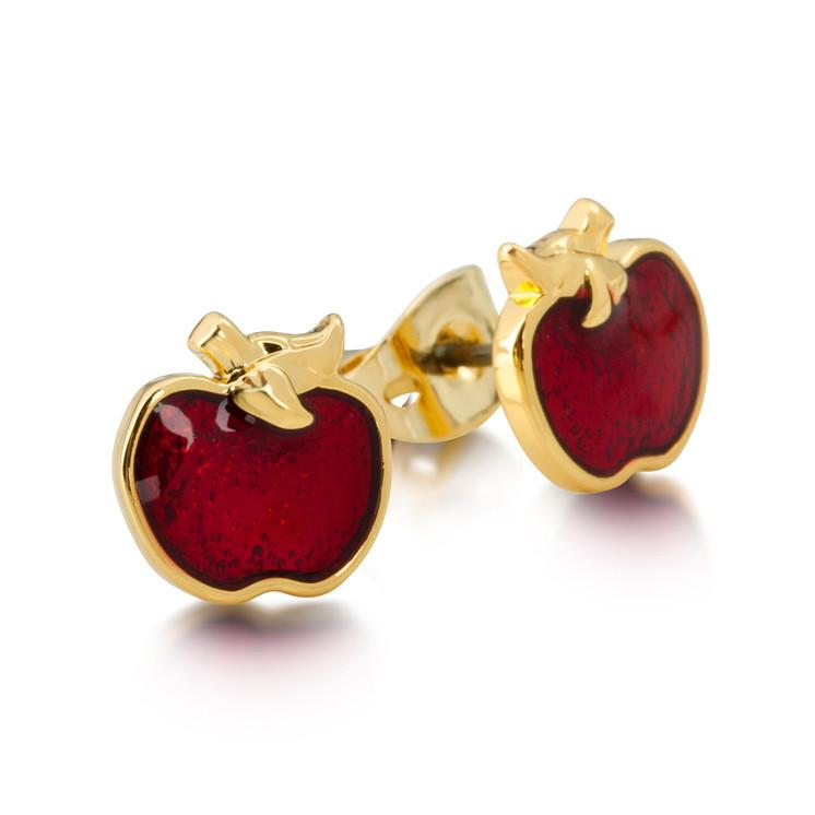 Disney Snow White Apple Stud Earrings - Couture Kingdom Benelux Bijoux Juwelen Disney Store Charm Bracelet Ketting Collier Oorbellen Boucles d'oreilles Earrings mickey mouse minnie mouse mary poppins dumbo la bella et la bete fée Clochette Alice au pays des merveilles pandora disney swarovski disney bijou cristal