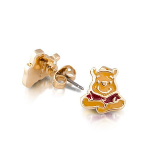 Disney Winnie the Pooh Enamel Stud Earrings - Couture Kingdom Benelux Bijoux Juwelen Disney Store Charm Bracelet Ketting Collier Oorbellen Boucles d'oreilles Earrings mickey mouse minnie mouse mary poppins dumbo la bella et la bete fée Clochette Alice au pays des merveilles pandora disney swarovski disney bijou cristal