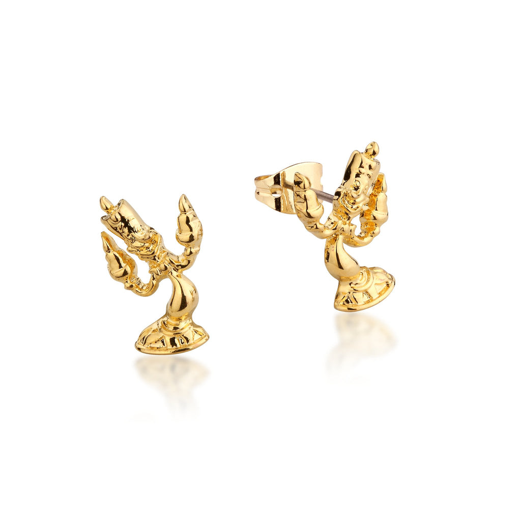 Disney Beauty and the Beast Lumiere Stud Earrings - Couture Kingdom Benelux