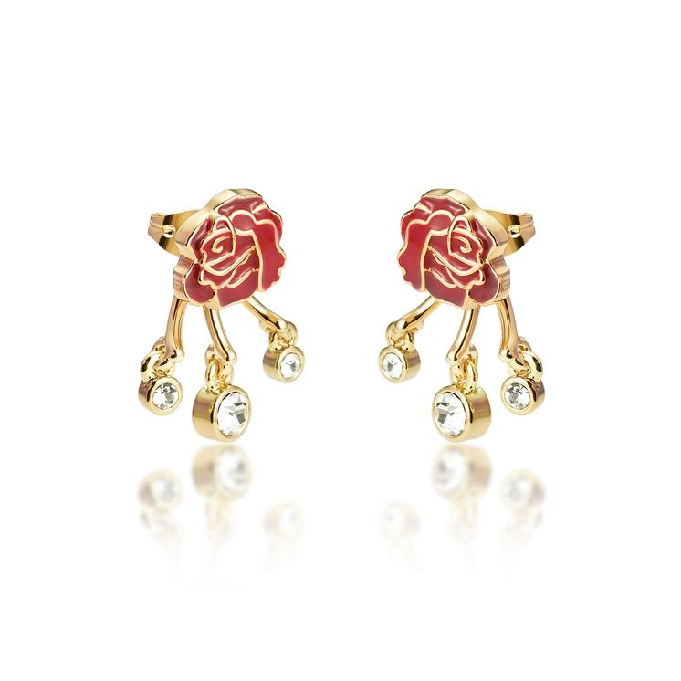 Disney Princess Beauty and the Beast Enchanted Rose Earring Set - Couture Kingdom Benelux