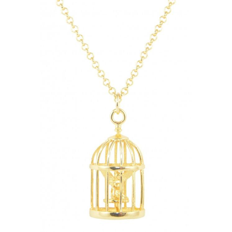 Disney Tinker Bell Cage Necklace