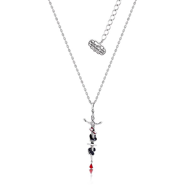 Disney Alice in Wonderland Red Queen Necklace - Couture Kingdom Benelux Bijoux Juwelen Disney Store Charm Bracelet Ketting Collier Oorbellen Boucles d'oreilles Necklace mickey mouse minnie mouse mary poppins dumbo la bella et la bete fée Clochette Alice au pays des merveilles pandora disney swarovski disney bijou cristal