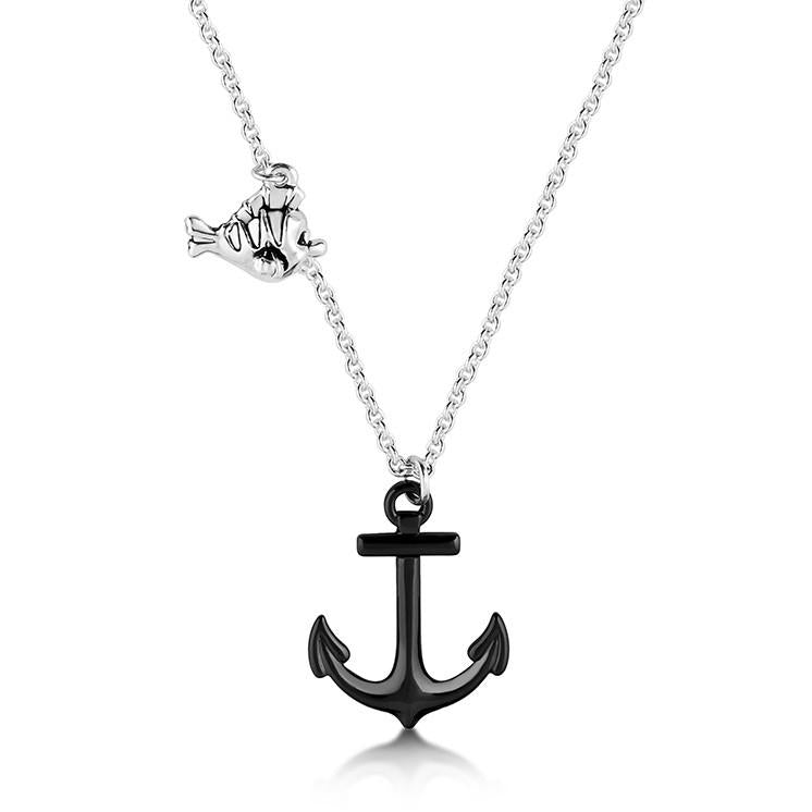 Disney The Little Mermaid Anchor Necklace - Couture Kingdom Benelux Bijoux Juwelen Disney Store Charm Bracelet Ketting Collier Oorbellen Boucles d'oreilles Necklace mickey mouse minnie mouse mary poppins dumbo la bella et la bete fée Clochette Alice au pays des merveilles pandora disney swarovski disney bijou cristal