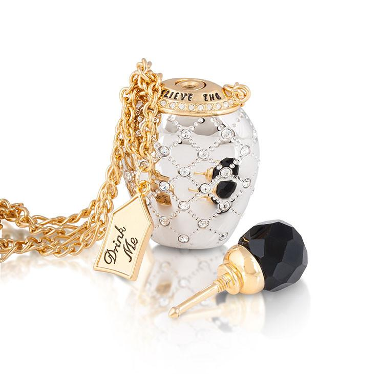 Disney Alice in Wonderland Potion Bottle Necklace - Couture Kingdom Benelux Bijoux Juwelen Disney Store Charm Bracelet Ketting Collier Oorbellen Boucles d'oreilles Necklace mickey mouse minnie mouse mary poppins dumbo la bella et la bete fée Clochette Alice au pays des merveilles pandora disney swarovski disney bijou cristal