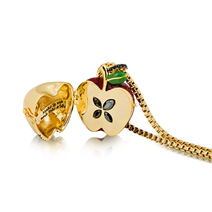 Disney Snow White Poison Apple Locket - Couture Kingdom Benelux Bijoux Juwelen Disney Store Charm Bracelet Ketting Collier Oorbellen Boucles d'oreilles