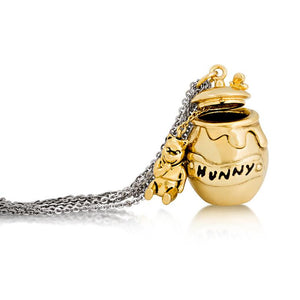 Disney Winnie the Pooh Honey Pot Necklace - Couture Kingdom Benelux Bijoux Juwelen Disney Store Charm Bracelet Ketting Collier Oorbellen Boucles d'oreilles Necklace mickey mouse minnie mouse mary poppins dumbo la bella et la bete fée Clochette Alice au pays des merveilles pandora disney swarovski disney bijou cristal