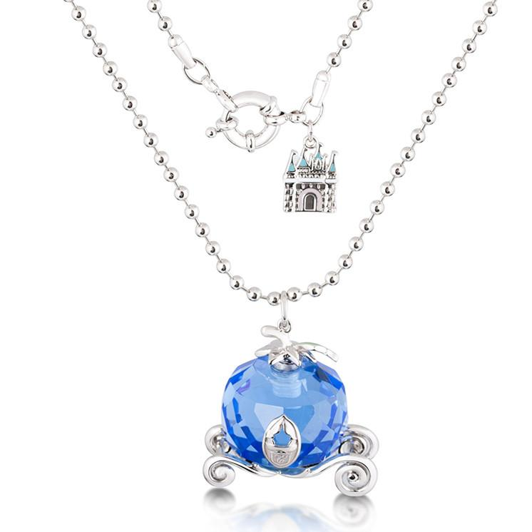 Disney Cinderella Pumpkin Carriage Necklace - Couture Kingdom Benelux Bijoux Juwelen Disney Store Charm Bracelet Ketting Collier Oorbellen Boucles d'oreilles Necklace mickey mouse minnie mouse mary poppins dumbo la bella et la bete fée Clochette Alice au pays des merveilles pandora disney swarovski disney bijou cristal