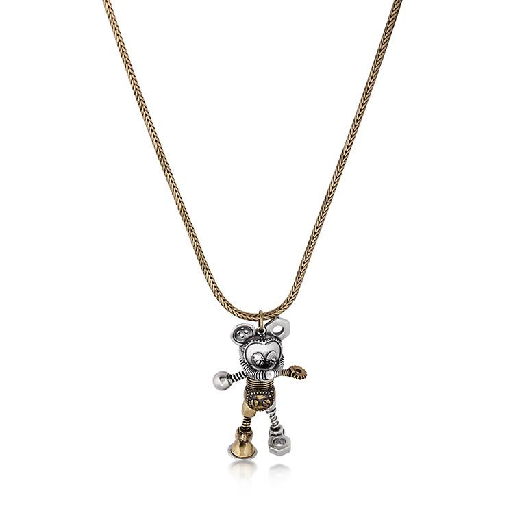 Disney Mickey Mouse Junk Yard Necklace - Couture Kingdom Benelux Bijoux Juwelen Disney Store Charm Bracelet Ketting Collier Oorbellen Boucles d'oreilles Necklace mickey mouse minnie mouse mary poppins dumbo la bella et la bete fée Clochette Alice au pays des merveilles pandora disney swarovski disney bijou cristal