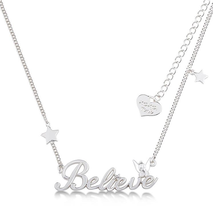 Disney Tinker Bell Believe Necklace - Couture Kingdom Benelux Bijoux Juwelen Disney Store Charm Bracelet Ketting Collier Oorbellen Boucles d'oreilles Necklace mickey mouse minnie mouse mary poppins dumbo la bella et la bete fée Clochette Alice au pays des merveilles pandora disney swarovski disney bijou cristal