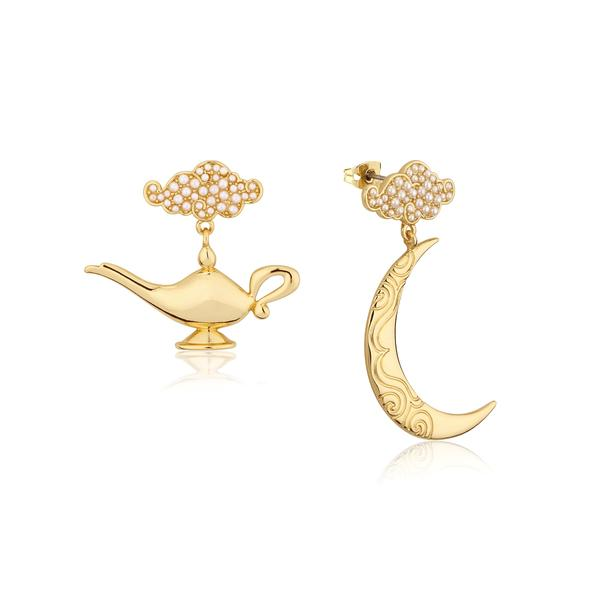 Disney Aladdin Genie Lamp in the Night Earrings - Couture Kingdom Benelux Bijoux Juwelen Disney Store Charm Bracelet Ketting Collier Oorbellen Boucles d'oreilles Earrings mickey mouse minnie mouse mary poppins dumbo la bella et la bete fée Clochette Alice au pays des merveilles pandora disney swarovski disney bijou cristal