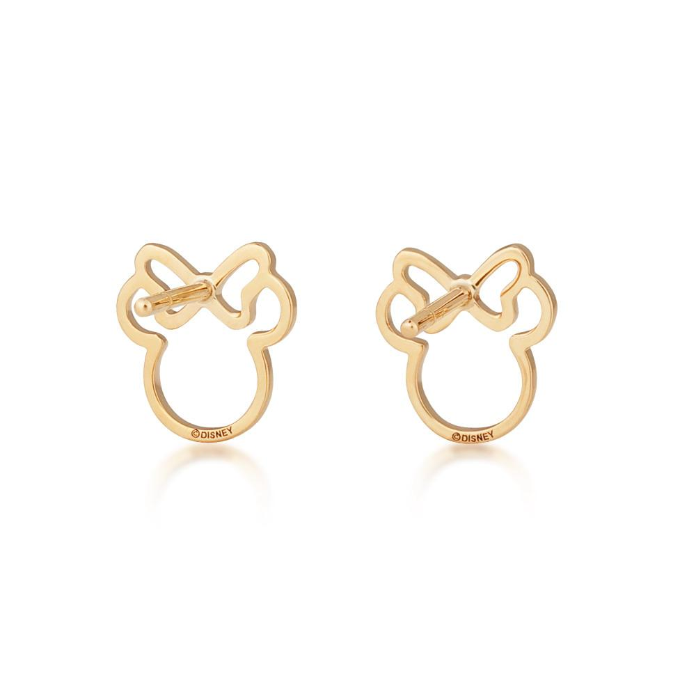 Disney Precious Metal Minnie Mouse Outline Stud Earrings - Couture Kingdom Benelux