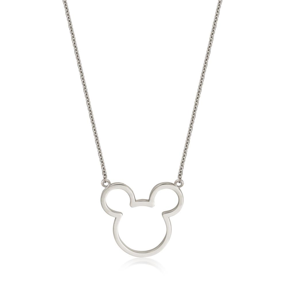 Disney Precious Metal Mickey Mouse Outline Necklace - Couture Kingdom Benelux Bijoux Juwelen Disney Store Charm Bracelet Ketting Collier Oorbellen Boucles d'oreilles Necklace mickey mouse minnie mouse mary poppins dumbo la bella et la bete fée Clochette Alice au pays des merveilles pandora disney swarovski disney bijou cristal