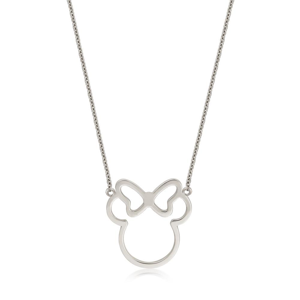 Disney Precious Metal Minnie Mouse Outline Necklace - Couture Kingdom Benelux