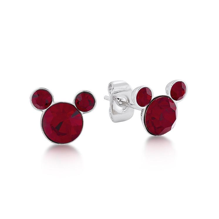 Disney Mickey January Birthstone Stud Earrings - Couture Kingdom Benelux Bijoux Juwelen Disney Store Charm Bracelet Ketting Collier Oorbellen Boucles d'oreilles Earrings mickey mouse minnie mouse mary poppins dumbo la bella et la bete fée Clochette Alice au pays des merveilles pandora disney swarovski disney bijou cristal
