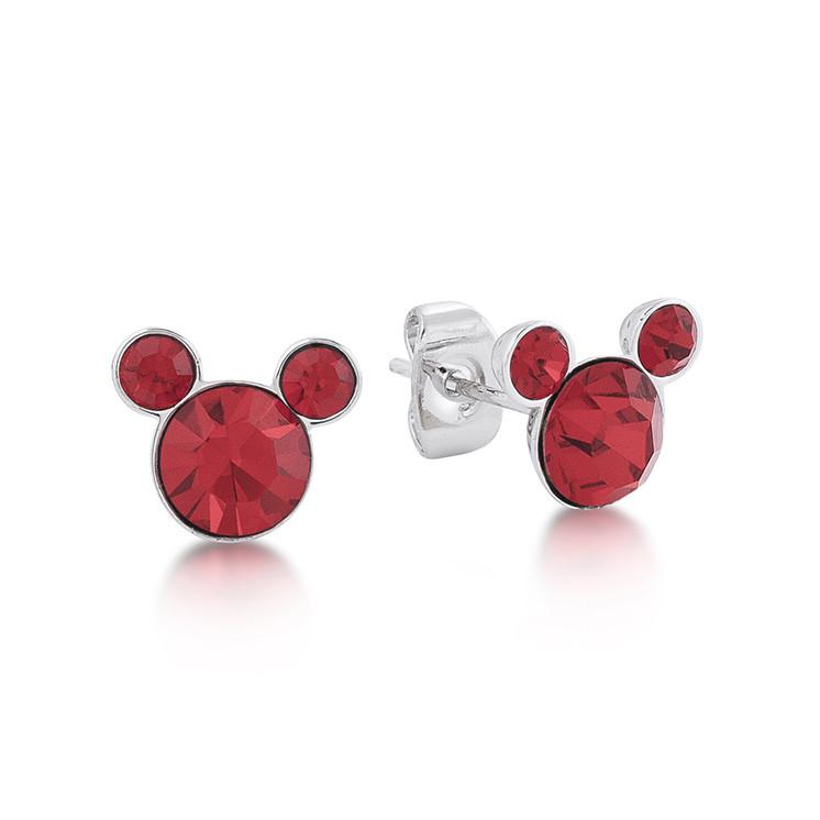 Disney Mickey July Birthstone Stud Earrings - Couture Kingdom Benelux Bijoux Juwelen Disney Store Charm Bracelet Ketting Collier Oorbellen Boucles d'oreilles Earrings mickey mouse minnie mouse mary poppins dumbo la bella et la bete fée Clochette Alice au pays des merveilles pandora disney swarovski disney bijou cristal