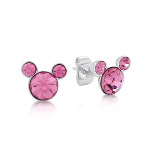 Disney Mickey October Birthstone Stud Earrings - Couture Kingdom Benelux Bijoux Juwelen Disney Store Charm Bracelet Ketting Collier Oorbellen Boucles d'oreilles Earrings mickey mouse minnie mouse mary poppins dumbo la bella et la bete fée Clochette Alice au pays des merveilles pandora disney swarovski disney bijou cristal
