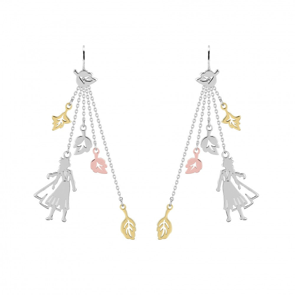 Disney Frozen II Gold-Plated Elsa Leaves Drop Earrings - Couture Kingdom Benelux Bijoux Juwelen Disney Store Charm Bracelet Ketting Collier Oorbellen Boucles d'oreilles Earrings mickey mouse minnie mouse mary poppins dumbo la bella et la bete fée Clochette Alice au pays des merveilles pandora disney swarovski disney bijou cristal