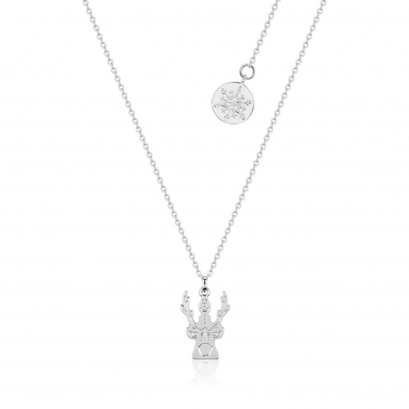 Disney Frozen II White Gold-Plated Olaf & Sven Necklace - Couture Kingdom Benelux Bijoux Juwelen Disney Store Charm Bracelet Ketting Collier Oorbellen Boucles d'oreilles Necklace mickey mouse minnie mouse mary poppins dumbo la bella et la bete fée Clochette Alice au pays des merveilles pandora disney swarovski disney bijou cristal