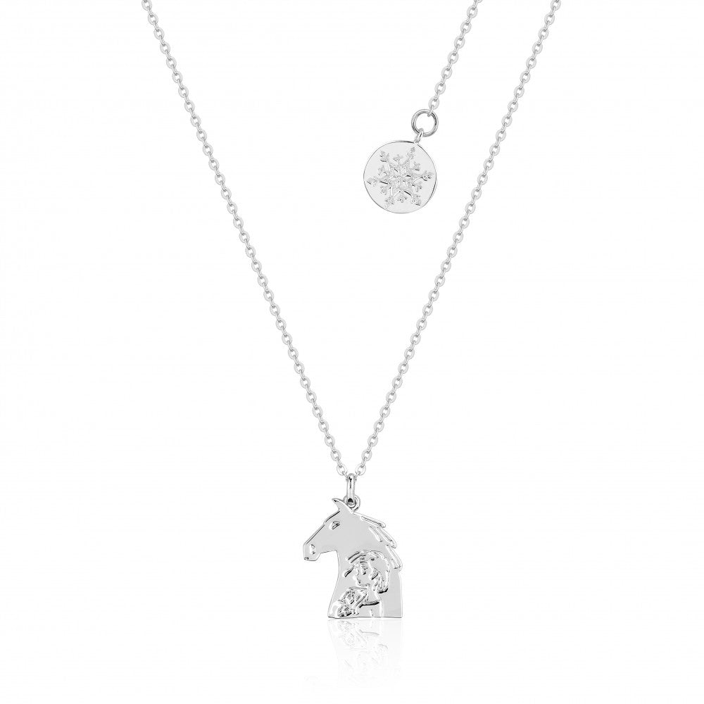 Disney Frozen II White Gold-Plated The Nokk & Elsa Necklace - Couture Kingdom Benelux Bijoux Juwelen Disney Store Charm Bracelet Ketting Collier Oorbellen Boucles d'oreilles Necklace mickey mouse minnie mouse mary poppins dumbo la bella et la bete fée Clochette Alice au pays des merveilles pandora disney swarovski disney bijou cristal