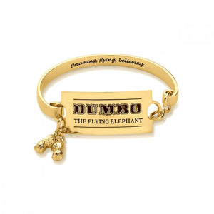 Disney Dumbo Gold-Plated Flying Elephant Circus Ticket Bangle - Couture Kingdom Benelux Bijoux Juwelen Disney Store Charm Bracelet Ketting Collier Oorbellen Boucles d'oreilles Bangle mickey mouse minnie mouse mary poppins dumbo la bella et la bete fée Clochette Alice au pays des merveilles pandora disney swarovski disney bijou cristal