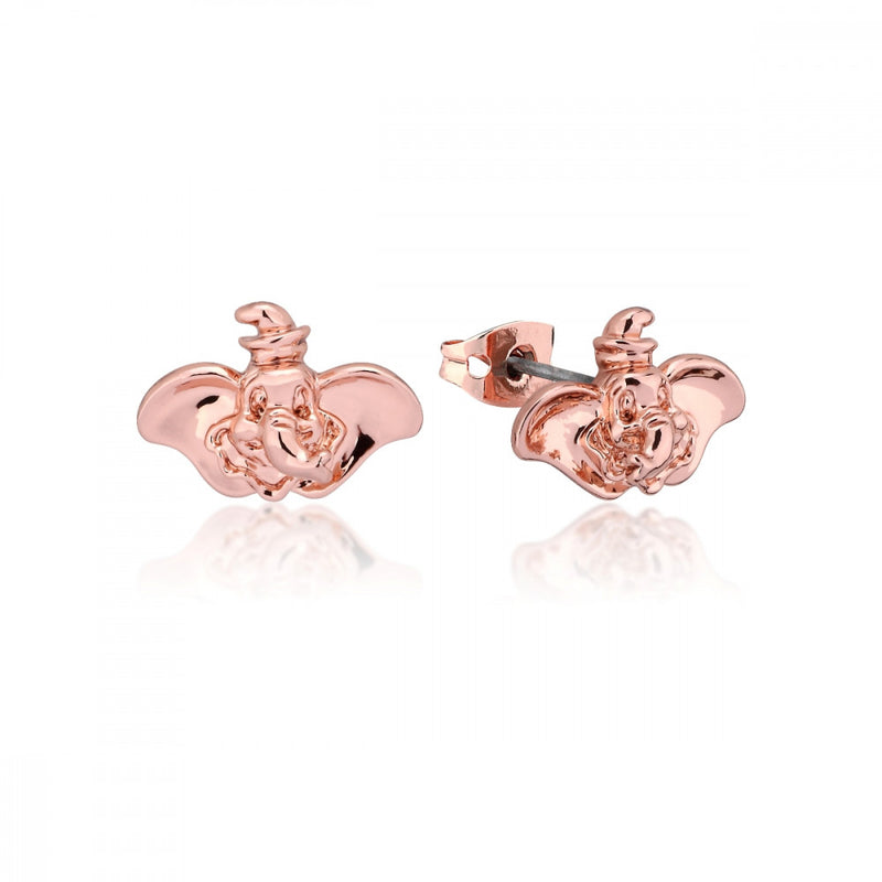 Disney Dumbo Rose Gold-Plated Elephant Stud Earrings - Couture Kingdom Benelux Bijoux Juwelen Disney Store Charm Bracelet Ketting Collier Oorbellen Boucles d'oreilles Earrings mickey mouse minnie mouse mary poppins dumbo la bella et la bete fée Clochette Alice au pays des merveilles pandora disney swarovski disney bijou cristal