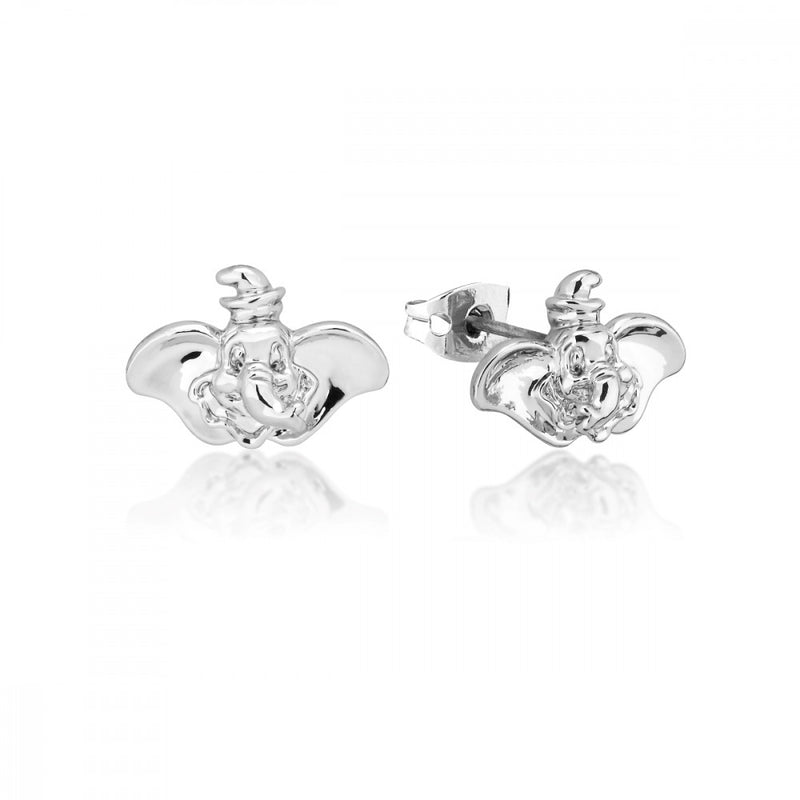 Disney Dumbo White Gold-Plated Elephant Stud Earrings - Couture Kingdom Benelux Bijoux Juwelen Disney Store Charm Bracelet Ketting Collier Oorbellen Boucles d'oreilles Earrings mickey mouse minnie mouse mary poppins dumbo la bella et la bete fée Clochette Alice au pays des merveilles pandora disney swarovski disney bijou cristal