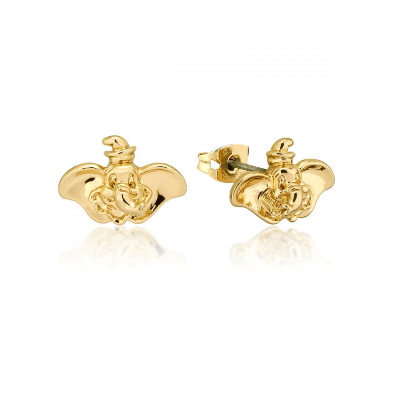 Disney Dumbo Gold-Plated Elephant Stud Earrings - Couture Kingdom Benelux Bijoux Juwelen Disney Store Charm Bracelet Ketting Collier Oorbellen Boucles d'oreilles Earrings mickey mouse minnie mouse mary poppins dumbo la bella et la bete fée Clochette Alice au pays des merveilles pandora disney swarovski disney bijou cristal