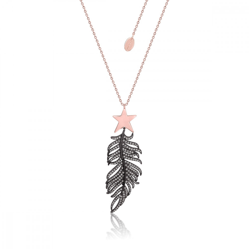 Disney Dumbo Rose Gold-Plated Crystal Magic Feather Necklace - Couture Kingdom Benelux Bijoux Juwelen Disney Store Charm Bracelet Ketting Collier Oorbellen Boucles d'oreilles Necklace mickey mouse minnie mouse mary poppins dumbo la bella et la bete fée Clochette Alice au pays des merveilles pandora disney swarovski disney bijou cristal