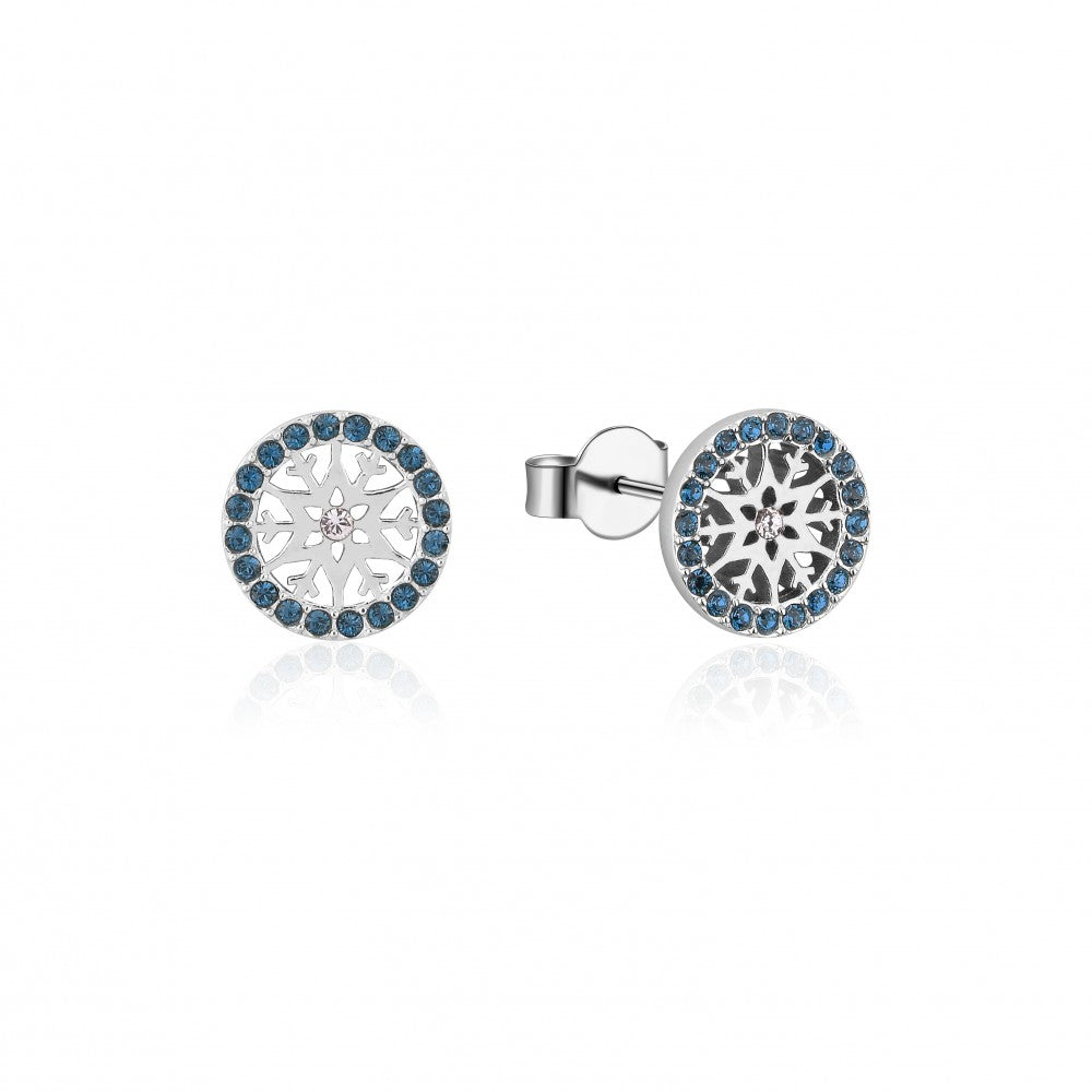 Disney Frozen II Sterling Silver Crystal Snowflake Birthstone Stud Earrings - DEC