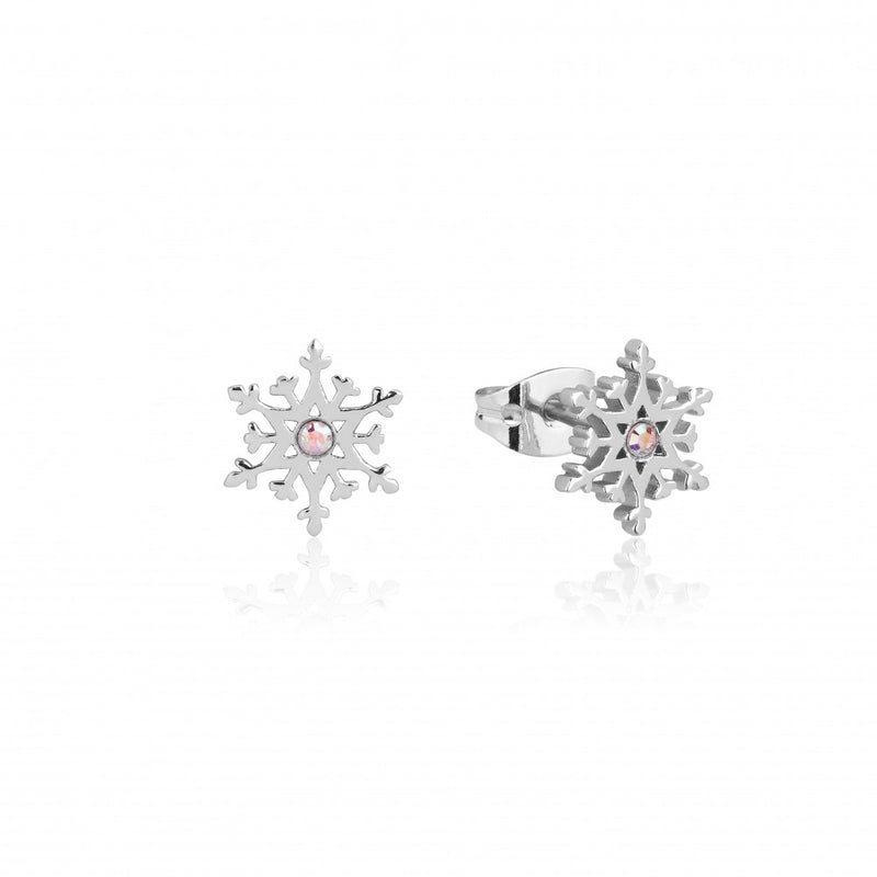 Disney Frozen II Sterling Silver Crystal Snowflake Stud Earrings - Couture Kingdom Benelux Bijoux Juwelen Disney Store Charm Bracelet Ketting Collier Oorbellen Boucles d'oreilles Earrings mickey mouse minnie mouse mary poppins dumbo la bella et la bete fée Clochette Alice au pays des merveilles pandora disney swarovski disney bijou cristal