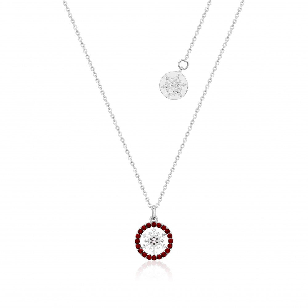 Disney Frozen II Sterling Silver Crystal Snowflake Birthstone Necklace - JAN