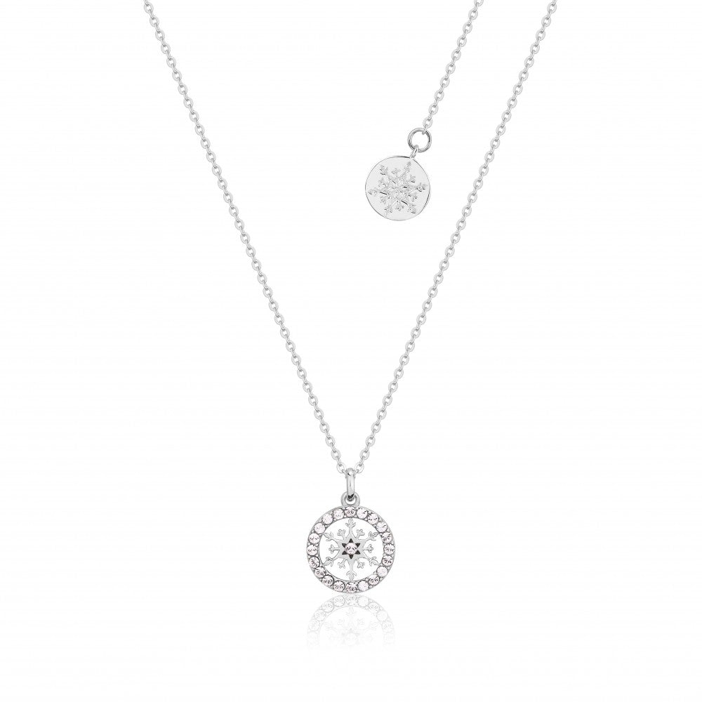 Disney Frozen II Sterling Silver Crystal Snowflake Birthstone Necklace - APR