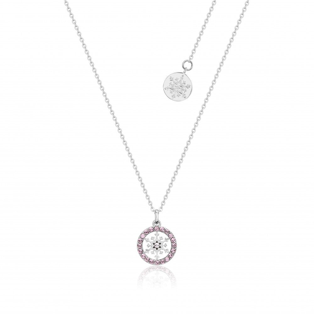 Disney Frozen II Sterling Silver Crystal Snowflake Birthstone Necklace - JUNE