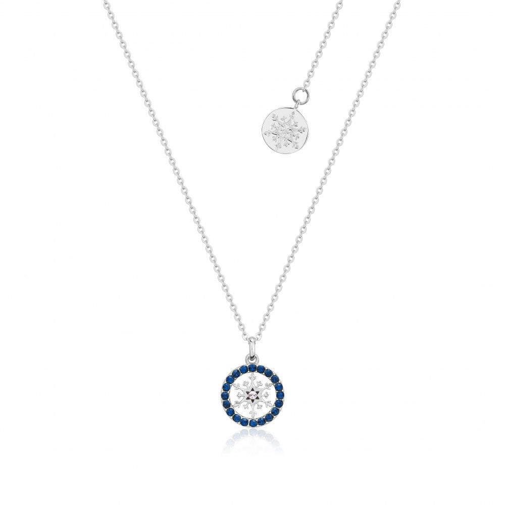 Disney Frozen II Sterling Silver Crystal Snowflake Birthstone Necklace - SEPT