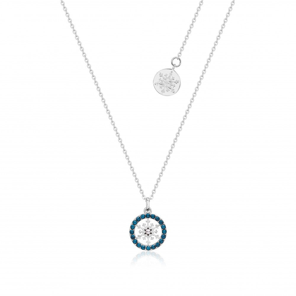 Disney Frozen II Sterling Silver Crystal Snowflake Birthstone Necklace - DEC