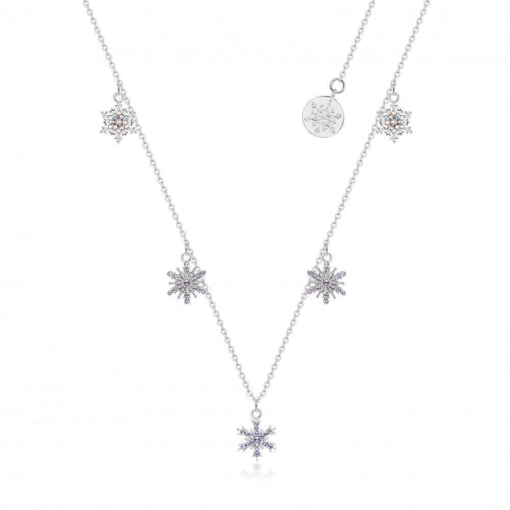 Disney Frozen II Sterling Silver Crystal Snowflake Necklace
