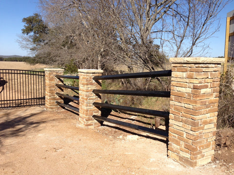 Masonry Fence Design Hill country fence and ranch fencing cattle guards ranch whether you are looking for strictly stone stucco or concrete fencing or a mixture of masonry and iron wood or rough cedar we do it all workwithnaturefo