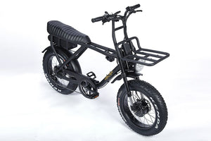Ariel Rider Ebikes - D-class dual motored fat tire scrambler ebike with front rack.