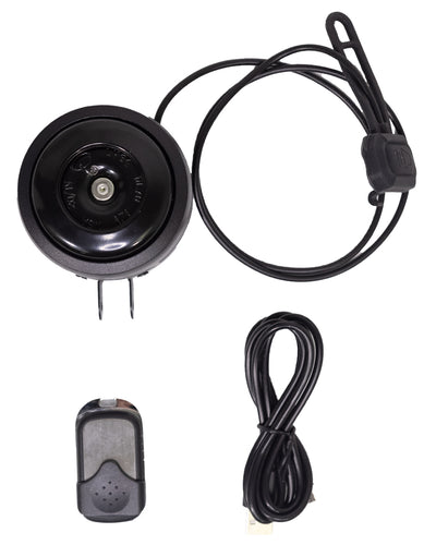 Remote Controlled Rechargeable Bike Horn and Alarm
