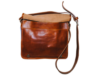 Beautiful Cross-body & Office bag in bull leather - AmalfiBazar