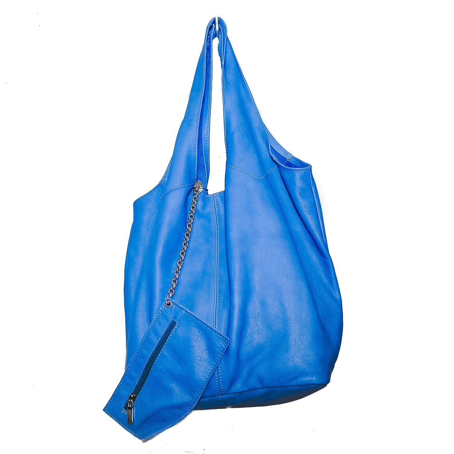 Amalfi Collection Leather Shopping Bag with leather lining inside - AmalfiBazar