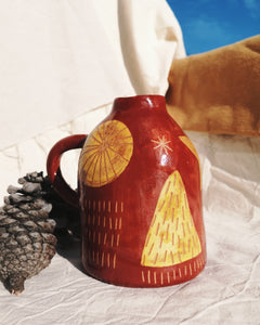 VASE / RED AND YELLOW