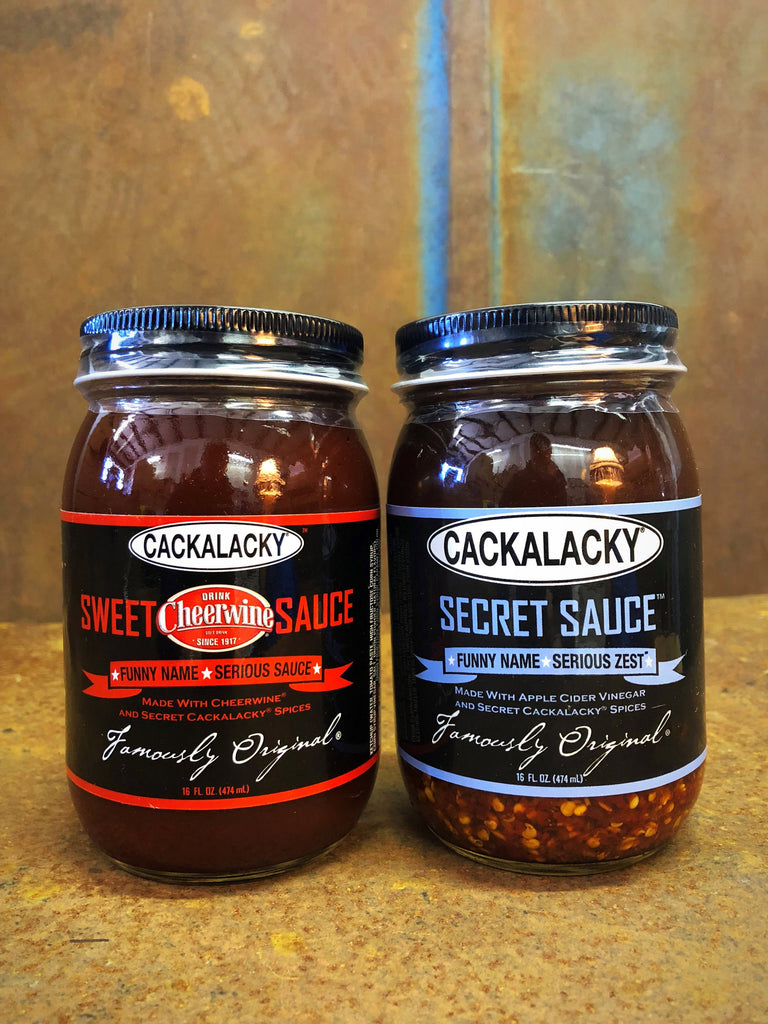 The Bottle Royale! Cackalacky® Tomato vs  Vinegar Sauce Variety 2-Pack